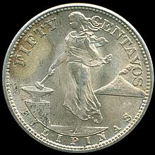 1944S US Philippines Silver 1/2 Peso MS65/66