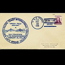 1933 USS 3c Texas Golden Gate Day Cover Scarce