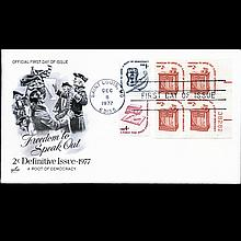 1977 US First Day Postal Cover Plate Block