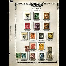 1922 US Stamp Album Page 21pcs