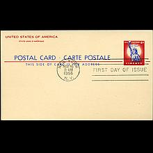 1955 US First Day Postal Card