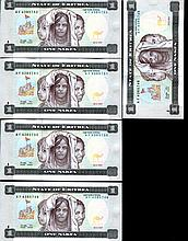 1997 Eritrea 1N Crisp Unc Note 10pcs Scarce Sequential