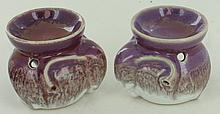 New Elephant Ceramic Oil Warmers Pair