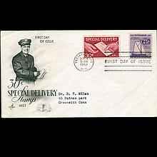 1957 US First Day Special Delivery Postal Cover