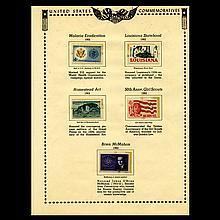 1962 US Stamp Album Page 5pcs