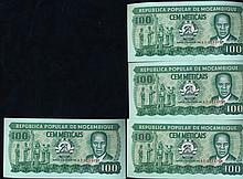 1983 Mozambique 100M Crisp Unc Note 10pcs Scarce Sequential