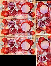 2004 Nigeria 10N Note Crisp Unc 10pcs Scarce Sequential