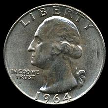 1964D Silver GW 25c Super Gem MS 66+