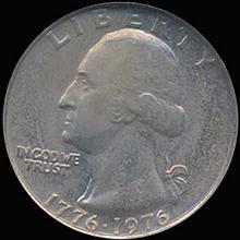 1976 Washington 25c Quarter Coin Graded GEM