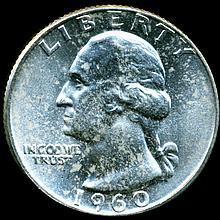 1960 Washington 25c MS65