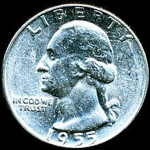 1955 Washington 25c MS64/65