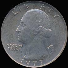 1977 Washington 25c Quarter Coin Graded GEM