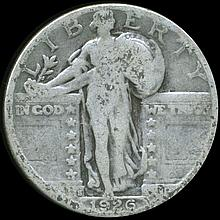 1926S Standing Liberty Quarter Better Circulated