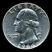 1964 Silver GW 25c Super Gem MS 67