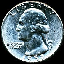 1959 Washington 25c MS65