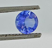 0.72ct Blue Tanzanite Round