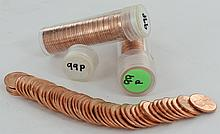 1999 Unsearched Estate Hoard BU Cent 3 Rolls of 50