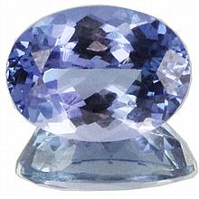 1.36ct Top Grade Blue Violet Tanzanite Appraised $816