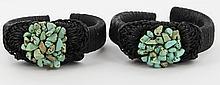 Crocheted Shell Bracelet Pair