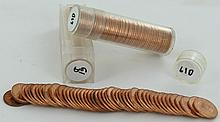 1961D Unsearched Estate Hoard Cent BU 3 Rolls 50