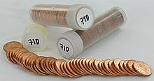 1971D Unsearched Estate Hoard BU Cent 3 Rolls of 50