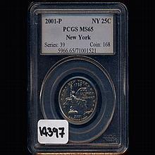 2001P Washington NY 25c Graded GEM MS65