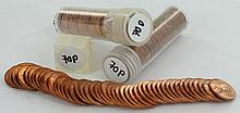 1970D, 70P Unsearched Estate Hoard BU 1c 3 Rolls of 50