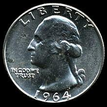 1964 Silver GW 25c Super Gem MS 66+