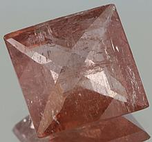 6.75ct Pink Orange Tourmaline Square Cut