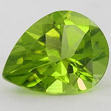 2.35ct Green Peridot Pear Cut