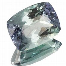 1.61ct Top Grade Blue Green Tanzanite Cushion
