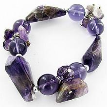 200twc Natural Amethyst Crystal Bracelet