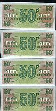 1972 UK 50p Military Note Crisp Unc 10pcs Scarce Sequential