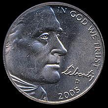 2005D W. Waters 5c Graded MS67