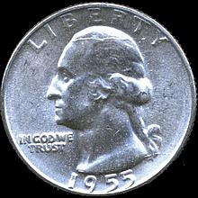 1955 Washington 25c Gem MS65/66 ERROR