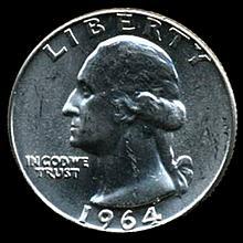 1964 Silver GW 25c Super Gem MS 66