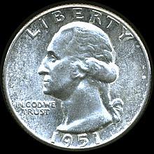 1951 Washington 25c MS64/65