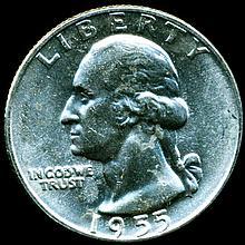 1955D Washington 25c MS64