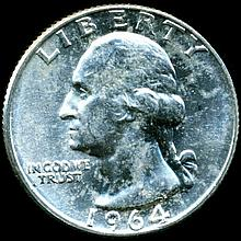 1964D Washington 25c MS65