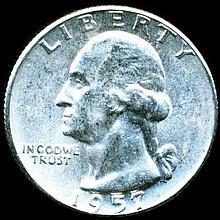 1957 Washington 25c MS65