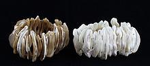 Stretch Shell/MOP Bracelet Pair