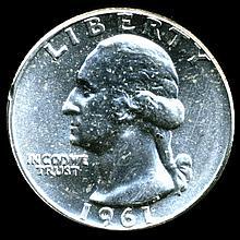 1961 Washington 25c MS65
