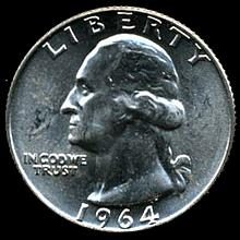 1964D Silver GW 25c Gem MS 65