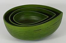 New Stacking Spun Bamboo Bowls