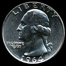 1964 Silver GW 25c Gem MS 65+