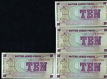 1972 UK 10p Military Note Crisp Unc 10pcs Scarce Sequential
