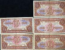1956 GB 1£ Military Note Crisp Unc 11pcs Scarce Sequential