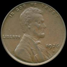 1926D Lincoln Cent MS64