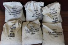 6 BAGS OF BU UNC 19-SEVENTIES LINCOLN CENTS HUGE $$???
