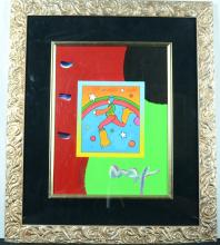 Peter Max Original Acrylic on Poster Signed and Numbered.
